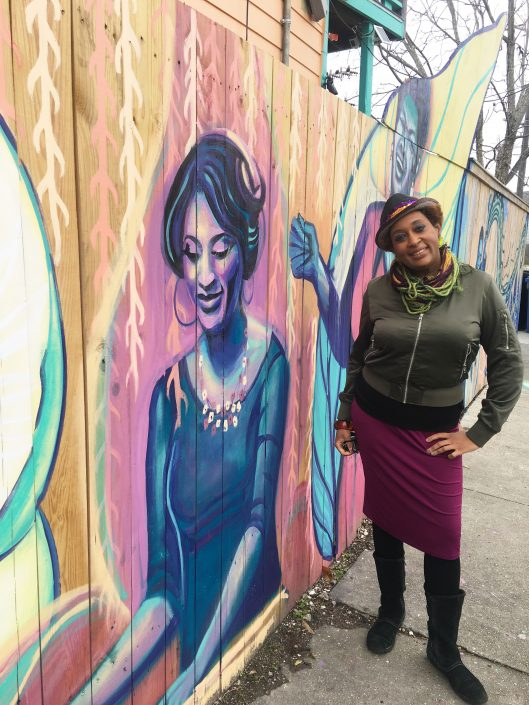 """Captured on People for Public Art's """"New Orleans Queens of Sound & Soul"""" mural house, 2021"""
